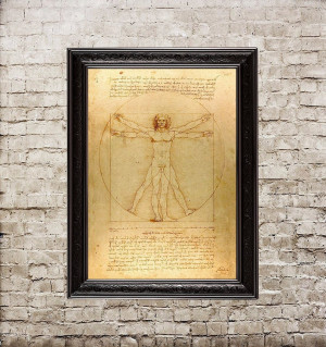 Vitruvian Man, Leonardo da...