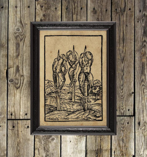 Medieval torture print