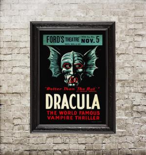 Dracula vintage poster