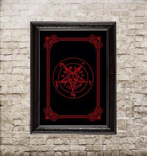 Sign of Baphomet. Pentagram...