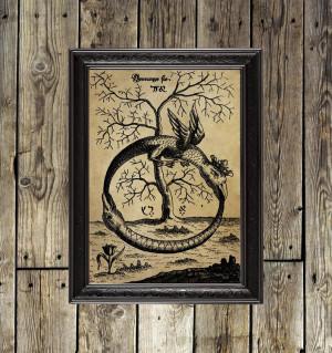 Ouroboros. Occult Art...